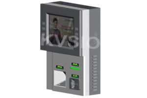 China Compact Structure Wall Mounted Kiosk Cashless Credit Card Payment Anti Vandalism on sale