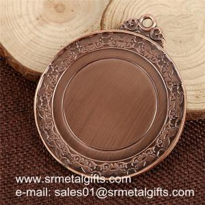 China China stock metal blank medals, brush antique bronze blank race medals cheap on sale