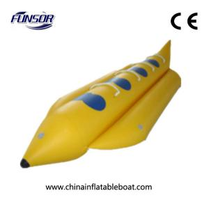 China Yellow Lovely And Durable Inflatable Banana Boat For 6 People To Match on sale
