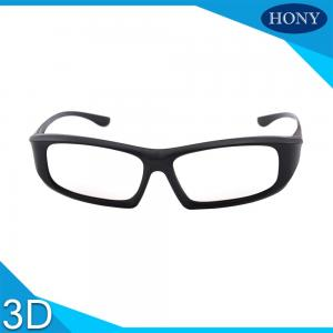 China Universe IMAX Passive Cinema 3D Glasses Black Linear Polarized For Adults on sale