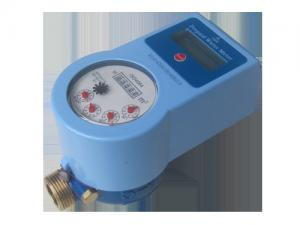 Quality Touchless Prepaid Smart Water Meter / Household Water Meter With Brass Valve for sale