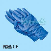 China Blue unlined household latex glove on sale