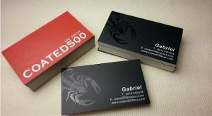 China Silk Lamination Uv Coating Business Cards High Standard Appearance For Government on sale