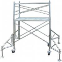 China Industrial Q235 Door Tubular Steel Frame Scaffolding Temporary Heavy Load Capacity on sale