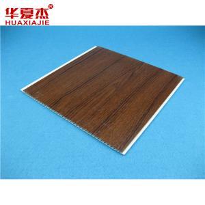 Quality Dark Wooden Pattern Pvc Garage Ceiling Panels For Interior Decoration Sgs