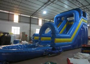 China Digital Printing Long Inflatable Giant Slip And Slide , Amusement Park Outdoor Water Slides on sale