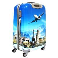Suitcase 4 Wheels ABS PC Pretty Trolley Luggage Set Waterproof Travel Bag Photo Printing