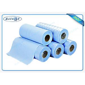 China Rollo no tejido del Bedsheet del masaje de los PP de la sábana disponible azul clara para el hospital on sale