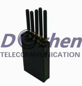 China 5 Antenna Portable Signal Jammer for GPS, Cell Phone, WiFi on sale