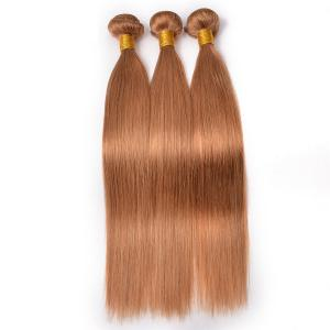 China #30 Color Straight Brazilian Hair Raw Hair Material Can Be Curled 12 to 26 Silky Soft Shed Free on sale