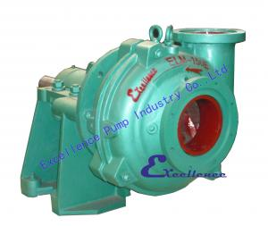 China Good performance horizontal, centrifugal slurry pumps EHM with rubber lined on sale