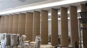 China Acoustic Material Banquet Hall Folding Partition Walls With Sliding Aluminium Track Roller on sale
