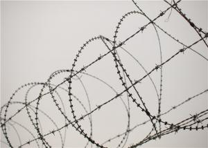 China Galvanised Barbed Razor Wire , Rust Resistance Concertina Razor Wire For Prison on sale