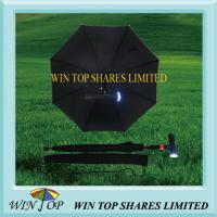 LED Auto Stick Umbrella with Radio, Alarm Function