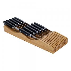 China Bamboo In-drawer Knife Block Storage Organizer Holder on sale
