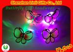 Plastic D55*H20mm Butterfly Party Headwear LED Flashing Toy / Flashing Hair Clips FA12107