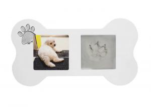 China Pet Paw Prints Keepsake Desk Photo Frames Clay Imprint Kit For Wall Hanging on sale