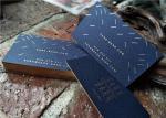 Navy Blue Foil Edge Business Cards