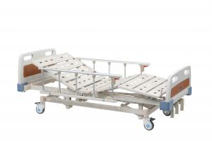 China Adjustable ABS Hospital Manual Bed , 3 Function Portable Hospital Bed For Patient  on sale