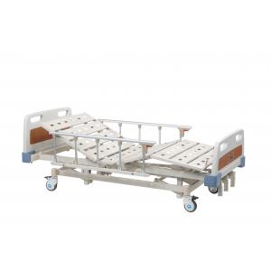 Adjustable ABS Hospital Manual Bed , 3 Function Portable Hospital Bed For Patient