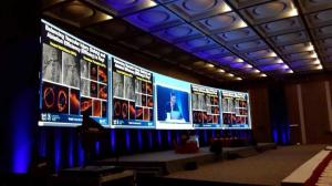 China Permanent Indoor Led Video Wall Screen 16 Bits 1080P 3 MM Pixel Pitch on sale