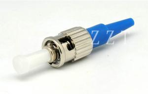China ST / UPC Blue Fiber Optic Connector FTTB , ST Fiber Connector on sale