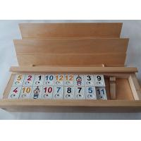 China Unfinished Wooden Box With Sliding Lid Custom Shape For Poker Cards on sale