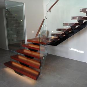 Quality Hot Sale Modern Internal Staircase Walnut Stair Treads Staircase  With Glass For Sale ...