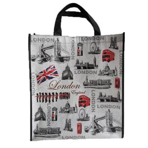 China Durable Non Woven Grocery Totetotes Folding Shopping Bag Custom Printing on sale