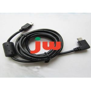 China 5P B Type Male To Male Cable , Right Angle Magnetic Mini Usb Cable With Magnet Ring on sale