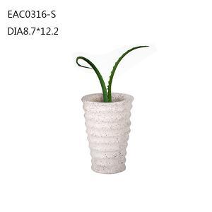 China cutomized iml cement bonsai pot , concrete plant pots , marble flowerpot on sale