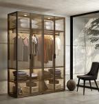 Brown Glass Display Wardrobe Customized OEM Customized Moisture Proof