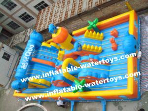 China Cool Summer 0.55mm PVC Tarpaulin Kids Inflatable Fun City for Fun ,Water proof and Fire Resistant on sale