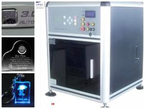 China Computerized 3D Glass Engraving Machine , 3D Laser Glass Etching Machine on sale