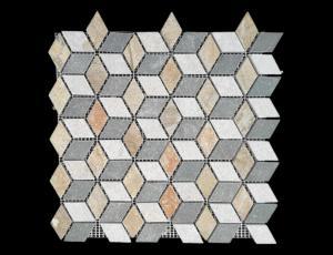 China mosaico romboidal de la pizarra natural de la cultura para el revestimiento de la pared on sale