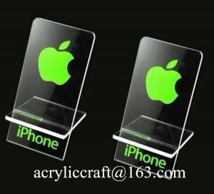 China Plastic phone display stand acrylic phone holder, organic glass display rack for iphone on sale