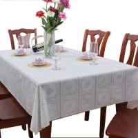 White PVC Table Cloth Covers Wipe Clean , No Need To Wash Or Iron