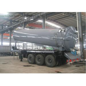 China Tri Axles Vac Semi Septic Pump Trailer For Off Road And Oil Field Operation 28000 L on sale
