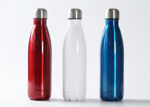 China 350ml - 1000ml Drinking Water Bottle Sports Engrave Outside Wall Ss201 Material on sale