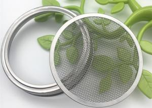 China 82mm / 86mm 304 Stainless Steel Sprouting Jar Strainer Lid For Growing Organic Spouts on sale