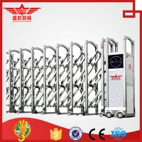 Single track motor operated swing stainless steel gate--J1430