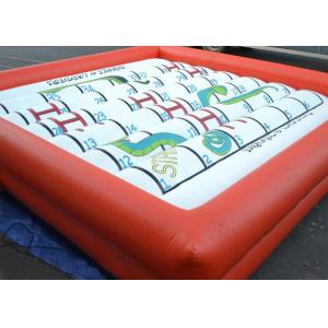 China Amazing Inflatable Outdoor Games Snakes And Ladders Playing With Foam Dice on sale