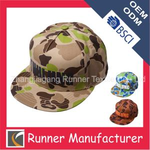 China 2014 Cheap High Quality Flatbill Fitted Blank 5 Panel Camo baseball caps Snapback Caps on sale