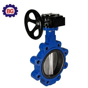 China Factory Direct Sale Worm Gear Actuated Full Lug Type Butterfly Valve on sale