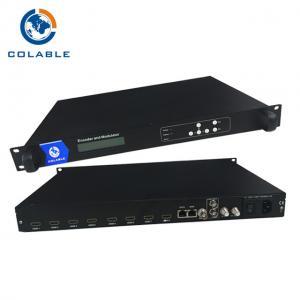 China 8 CH HDMI To RF Coax Converter , HDMI MPEG - 4 H 264 RF Encoder Modulator COL5011U on sale