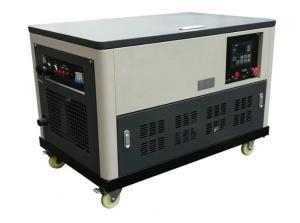 China Water cooled 30kw portable gasoline generator genset 4 cylinder engine enclosure auto start on sale