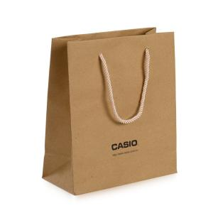 China Recycled Kraft Paper Shopping Bags , Custom Kraft Paper Bags For Clothing Packaging on sale