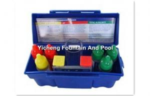 China 6 Bottles Swimming Pool Cleaning Products Test Kit For Estimating Acid on sale