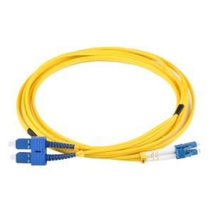 China Fiber Optical Patch Cord LC/APC to SC/APC Duplex Core Duplex Fiber G657 LSZH Jacket on sale