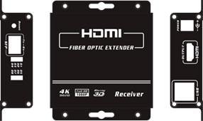 Quality KVM USB Keyboard Mouse HDMI Fiber Optic Transmitter And Receiver 1080P 24 Bit for sale